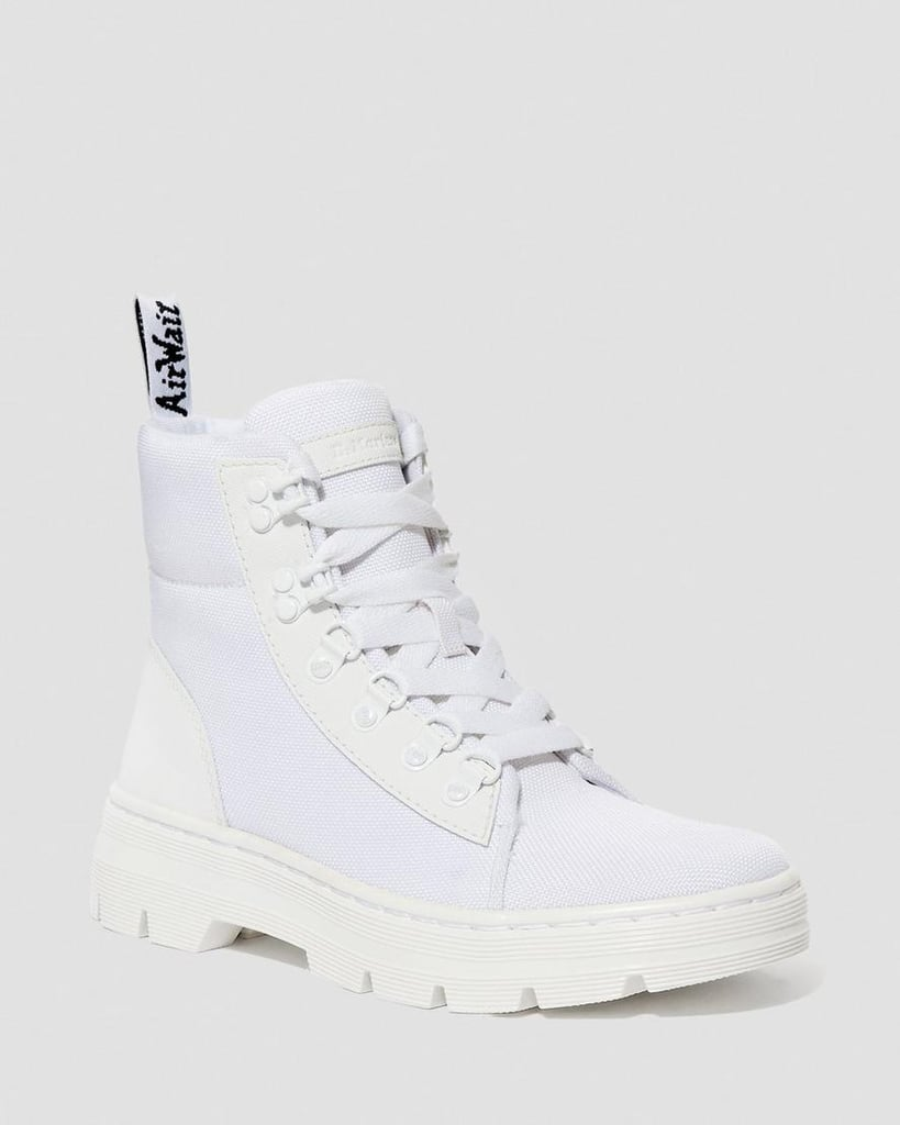 Dr. Martens Women's Combs White Ajax + Extra Tough Nylon Boots