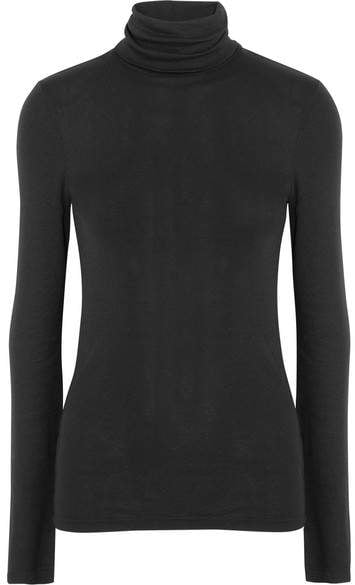 Splendid Supima Cotton And Modal-blend Turtleneck Sweater ($65)