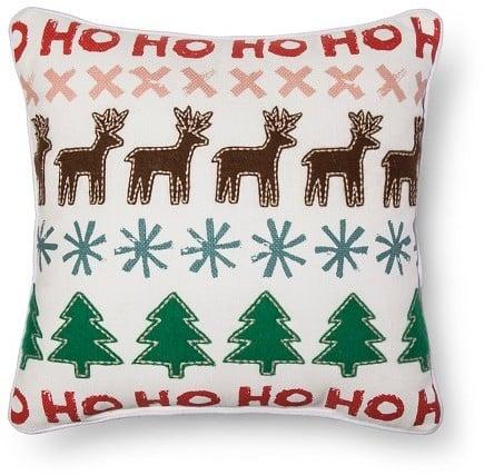 Reindeer Applique Pillow ($25)