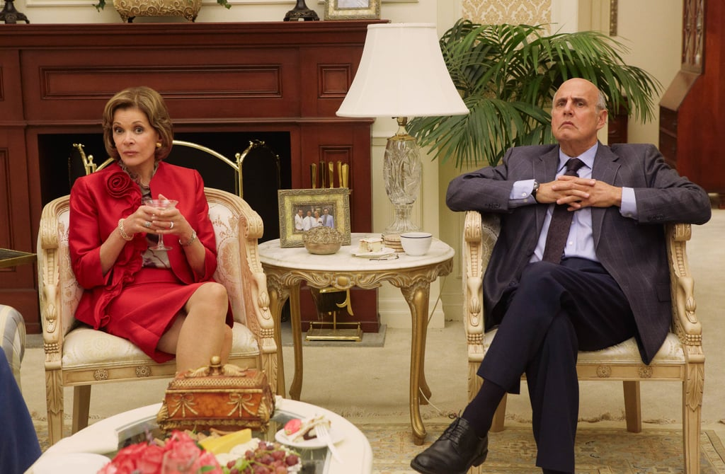 Jessica Walter as Lucille Bluth and Jeffrey Tambor as George Bluth on Arrested Development.