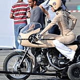 Keira Knightley Films New Chanel Commercial on Motorcycle Over the Weekend