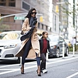 Jasmine Tookes wearing a Louis Vuitton bag.