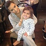 Kim Kardashian's PJ Party With Mason
