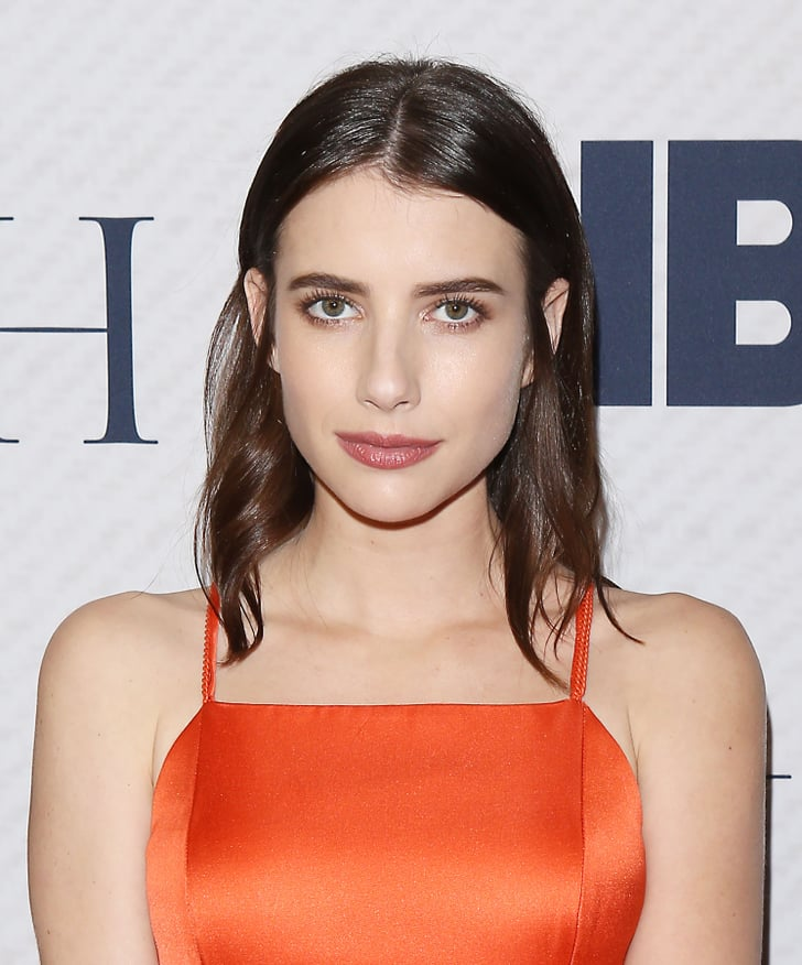 Emma Roberts With Dark Brown Hair Emma Roberts Dyed Her