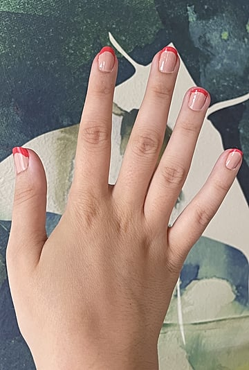 I Tried the Viral TikTok French Manicure Stamp Hack
