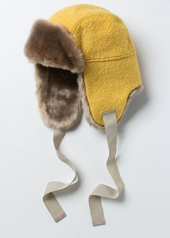 Anthropologie's colorblocked trapper ($68) has a fabulous pop of yellow that will brighten any ensemble. Imagine it with your favorite jeans and awesome brown lace-up boots.