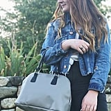 Grey Bowler Insulated Cooler Lunch Handbag