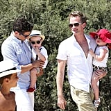 Neil Patrick Harris and David Burtka arrived with Gideon Burtka-Harris and Harper Burtka-Harris in Saint-Tropez.