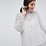 ASOS Exclusive High-Neck Blouse in Polka Dot