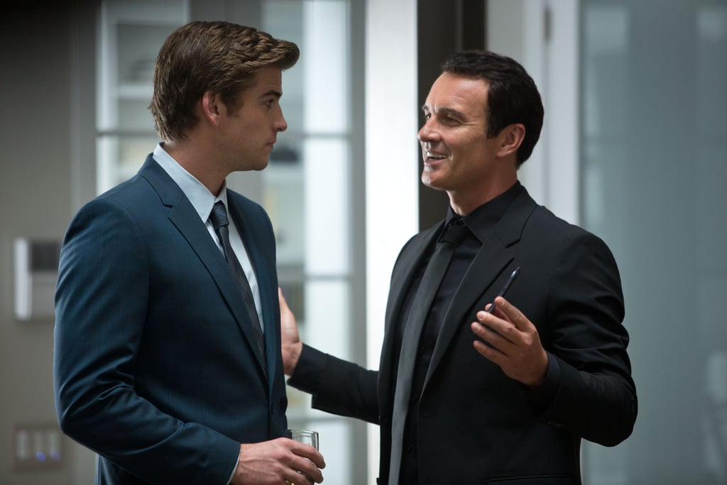 Liam Hemsworth and Julian McMahon in Paranoia.