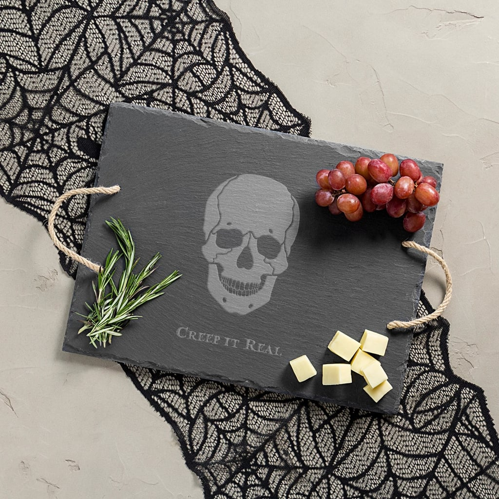 Halloween Skull Slate Serving Tray