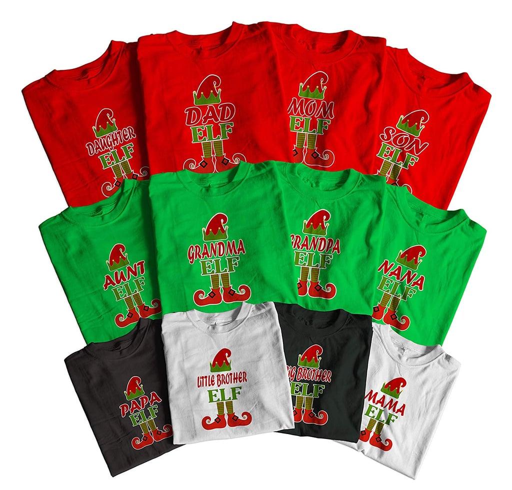 Elf Design Merry Christmas Family Matching Shirts ...