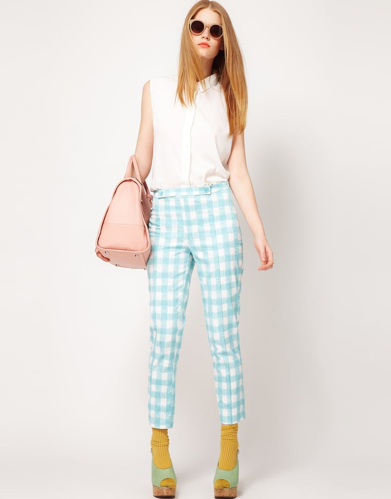 Refresh your Spring bottoms with a pop of gingham on pants you can wear work to weekend.  Asos Gingham Pants ($64)