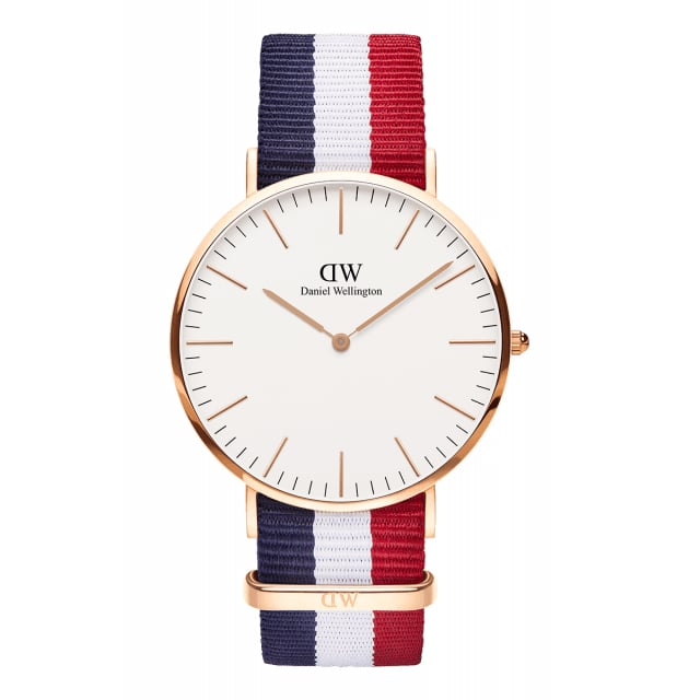 There's nothing like some good old patriotic style touches in the midst of the Summer months. The Daniel Wellington Classic Cambridge Rose Gold Watch ($195) is a given.