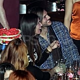 Ashton Kutcher and Lorene Scafaria partying in Greece.