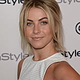 Styling her bob in a half-updo, Julianne Hough rocked a bold brow and nude lips.