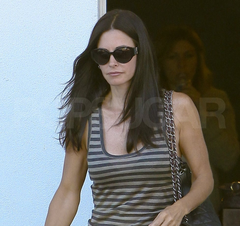 Courteney Cox Hits the Salon and Dishes on Her Dry Skin Solutions