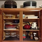 Use dividers to store pots, pans, cutting boards, and baking sheets.