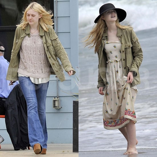 Pictures of Elle and Dakota Fanning at the Beach