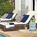 Pottery Barn Torrey All-Weather Wicker Single Chaise Lounge