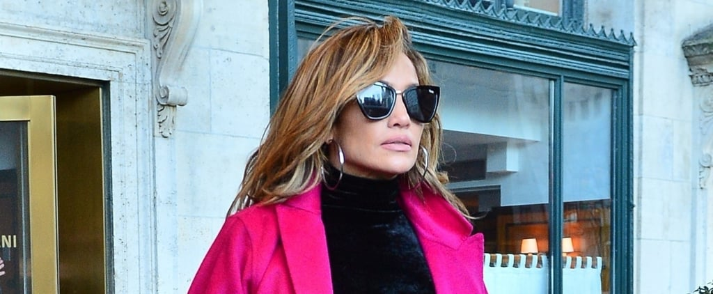 Jennifer Lopez Pink Coat With Alex Rodriguez March 2019