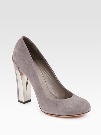 Pangea Gray Suede Pumps ($400)