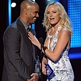 Shemar Moore got fresh with Malin Akerman when they presented an award together.