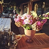 Beautify dinner parties with flowers.