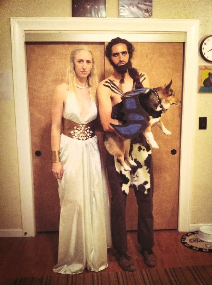 Khal Drogo and Daenerys (Plus Dog as a Dragon) From Game of Thrones  sc 1 st  Popsugar : costume khaleesi  - Germanpascual.Com