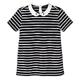 Girls' Navy Stripe Collared Top  ($15)