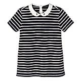 Girls' Navy Stripe Collared Top  ($15)