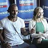 Pictured: Ricky Whittle and Eliza Taylor.