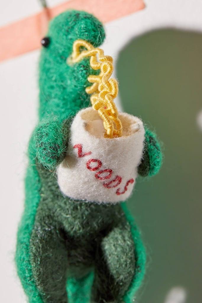 Felt T-Rex Christmas Ornament