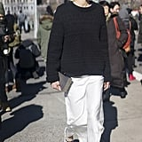 Or pull a sweater over it for an equally wearable effect.