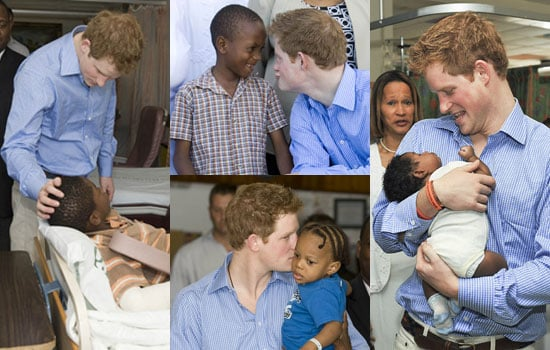 Photos of Prince Harry in Barbados Calypso Dancing For Haiti, Playing Polo and Falling From Horse, Meeting Sick Children