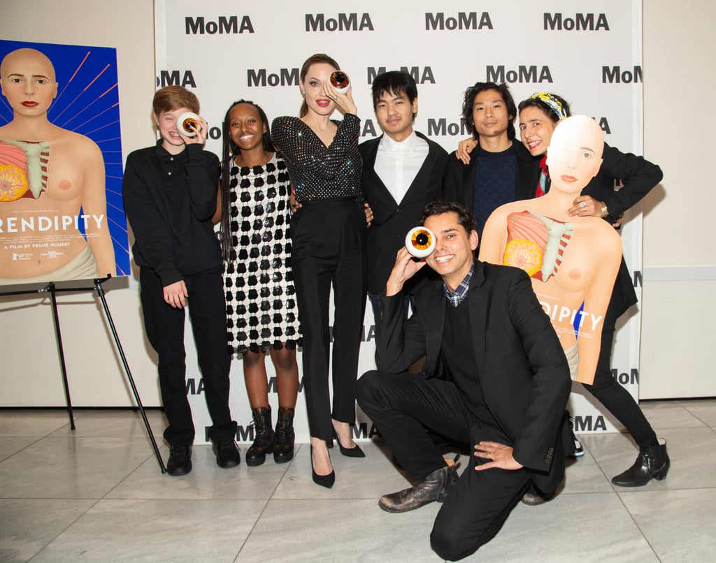 Angelina Jolie and Her Kids at MoMA's Fortnight NYC ...