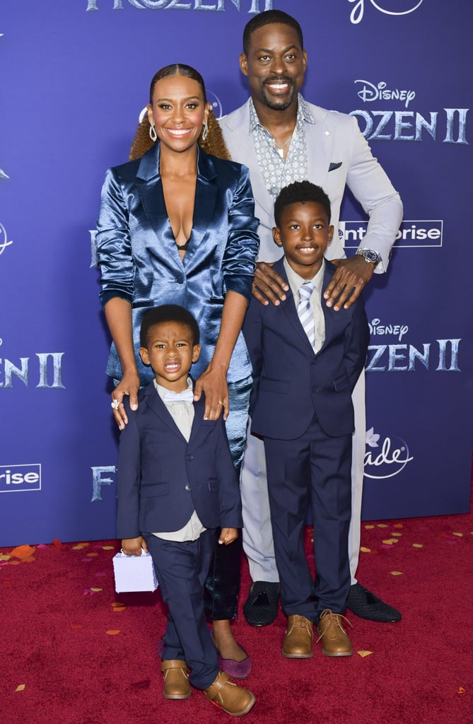 Ryan Michelle Bathe and Sterling K. Brown at the Frozen 2 Premiere in Los Angeles