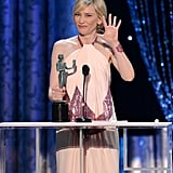 Cate Blanchett asked for five more seconds during her acceptance speech.