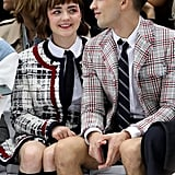 Maisie Williams and Her Boyfriend in Matching Eye Shadow