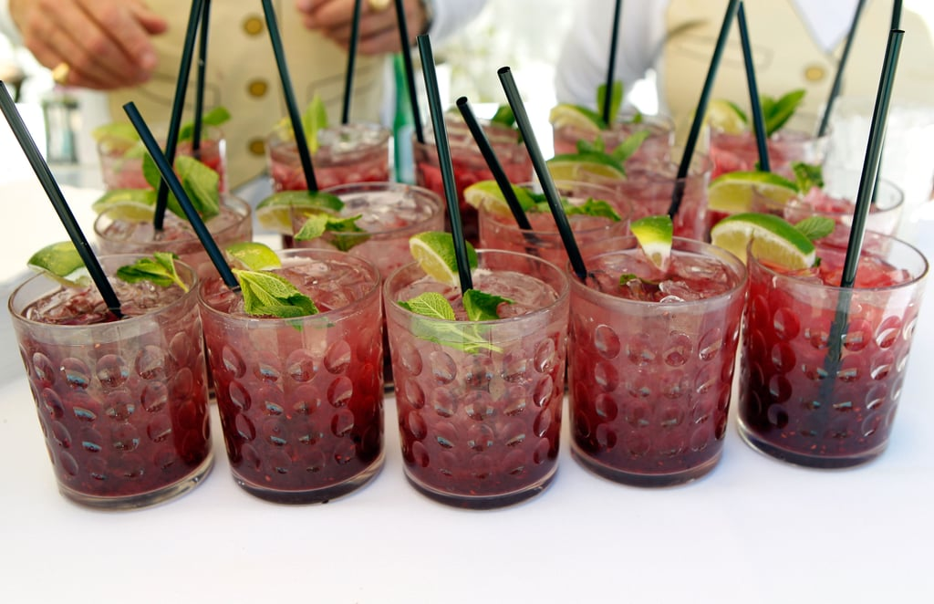 Sweet little drinks, served poolside at Mulberry's BBQ.