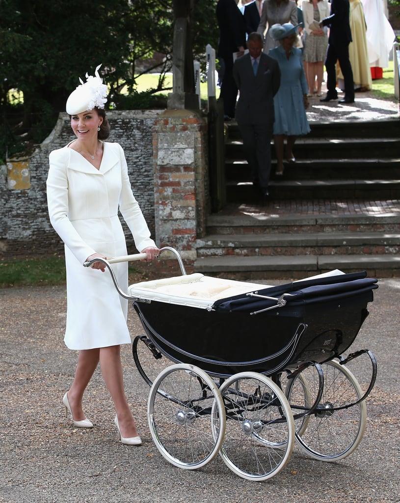 عندما برزت كألمع أمٍّ على الساحة يوم تعميد الأميرة تشارلوت