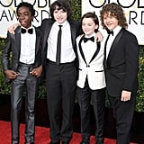 Stranger Things Cast at the Golden Globes 2017