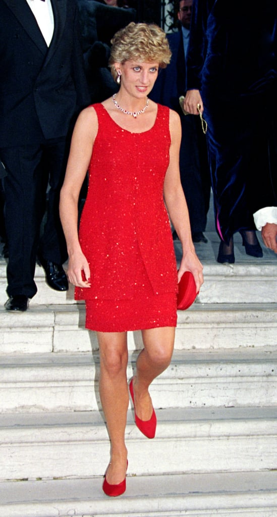 Red Beaded Dress