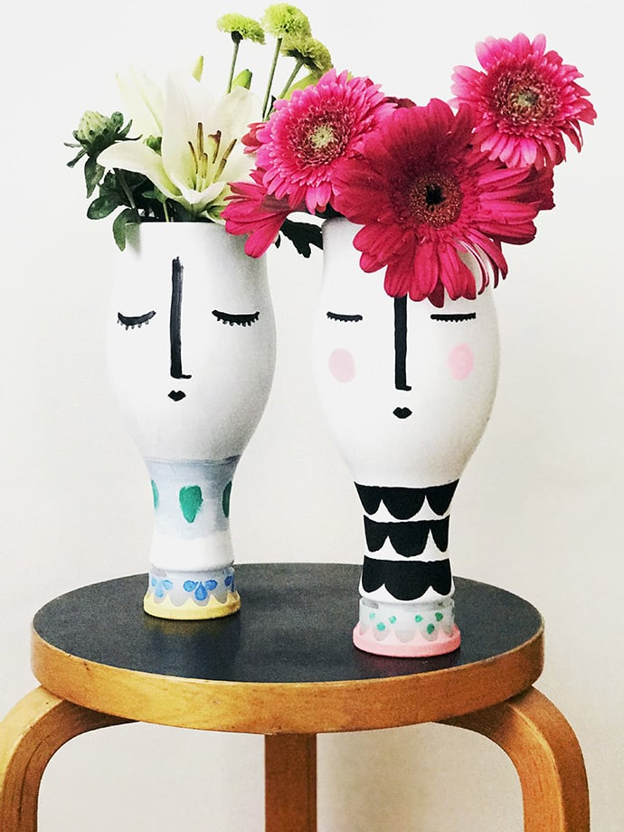 Almond Milk Vases