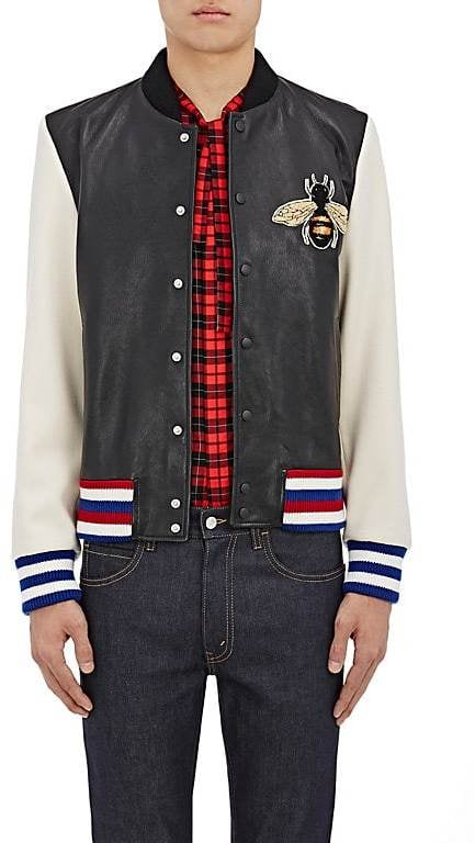 "Gucci Men's ""Blind For Love"" Lambskin Bomber Jacket"
