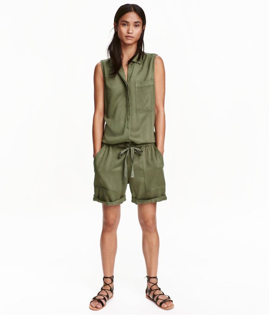1df630905353 H M Sleeveless Jumpsuit - Khaki green - Ladies ( 35)