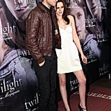 Robert Pattinson and Kristen Stewart hung out on the red carpet at the German Twilight premiere in December 2008 in Munich.