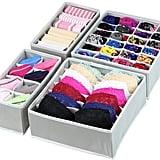 Simple Houseware Closet Underwear Organiser Drawer Divider 4 Set