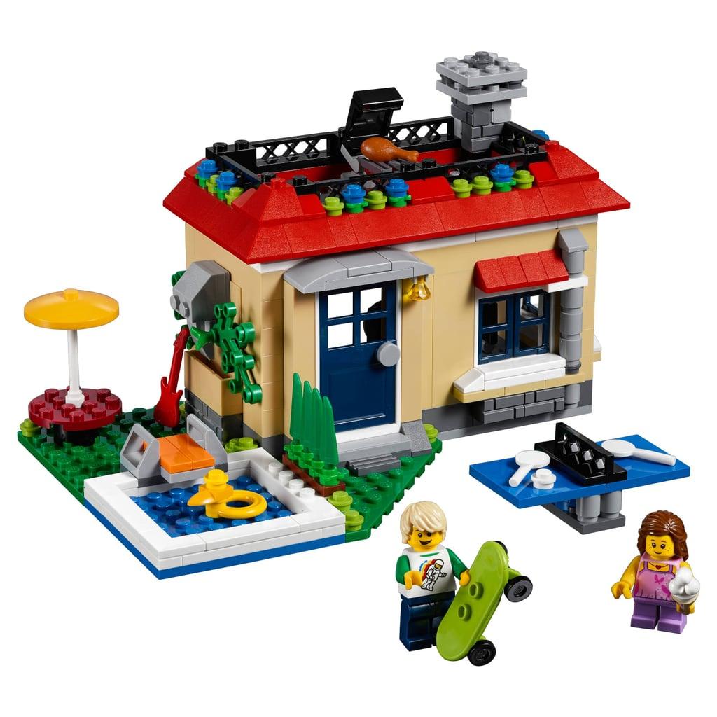 lego creator modular poolside holiday best lego sets of. Black Bedroom Furniture Sets. Home Design Ideas