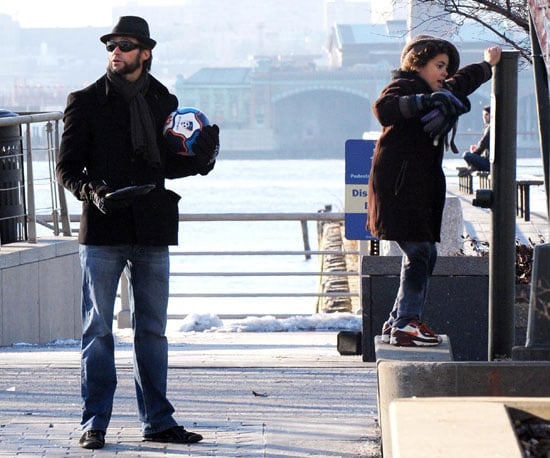 Photos of Hugh Jackman and son Oscar Out in NYC